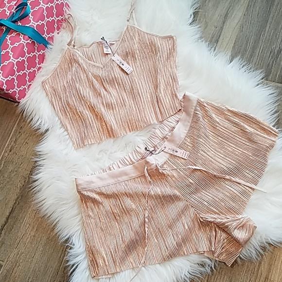 53c4c387b8 Victoria s Secret Shine Pleat Crop Cami   Shorts